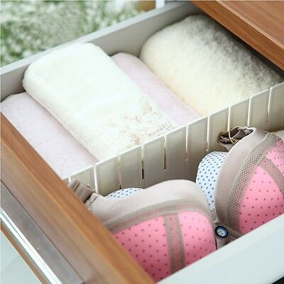 Necessities Household Plastic Drawer Separator  Divider Grid Storage Organizer