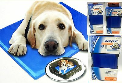Pet Cool Gel Mat Dog Cat Bed Non-Toxic Cool Cooling Gel Mat Summer Pad 3Size