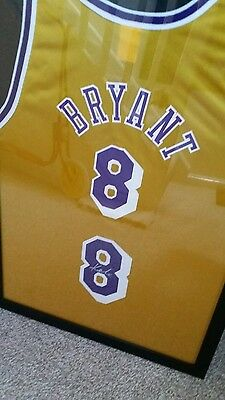 Kobe bryant signed number 8 framed Rare with c.o.a