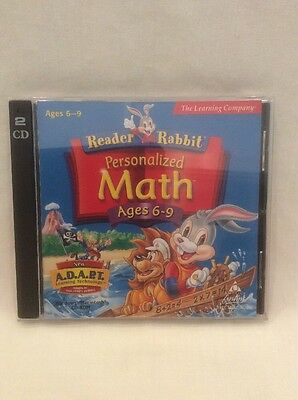 PC Game The Learning Company Reader Rabbit Personalised Math Ages 6 - 9