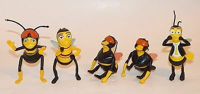 The Bee Movie 5 Toy Lot McDonald's Happy Meal Kids Toys 2007