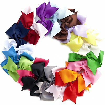 "20pcs LOT Baby Girls Big 5"""" Hair Bows Alligator Hair Clips-Baby Girl Gift Set"