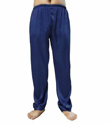 Men's Nightwear Sleepwear Pajamas Satin Silk Long Lounge Pants Pyjamas Trousers