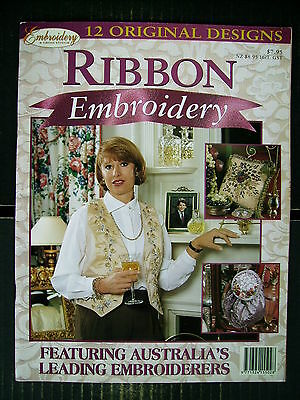 Ribbon Embroidery~12 Designs~Techniques~Stitches~Projects~Vest~Cushions~Bags...