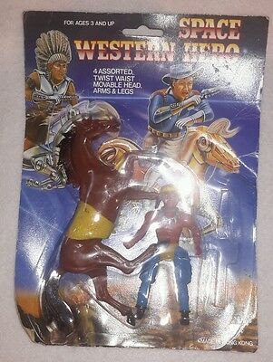 Vintage Space Western Hero Cowboys Indians action figure toy doll horse Bootleg