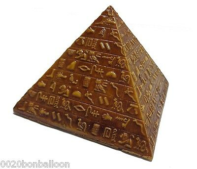 Egyptian Pyramids Hieroglyphics Pharaoh Figurine Statue Ancient 3D Sculpture 201