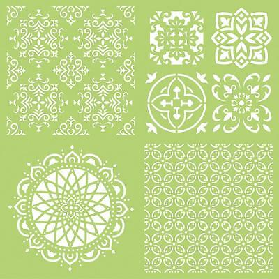 "Kaisercraft 12x12"" Designer Template/ Stencil - INTRICATE TILES - Mixed Media"