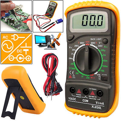 Digital Multimeter XL830L Voltmeter Ammeter AC DC OHM Meter LCD Voltage Circuit