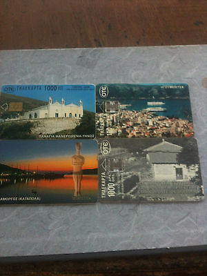4 x Greece used cards  chip  LOT GR 031210