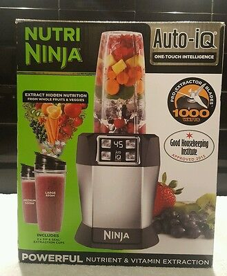 Nutri Ninja BL480UK  with Auto-iQ 1000W Extraction Blender with 2 Cups