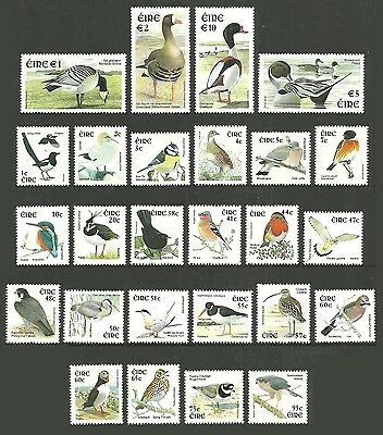 Ireland 2002 Birds Definitives New Currency Shelduck Pintail Goose 26 Values Mnh