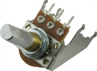 Fender Potentiometer Reverse Audio 30C100K D Shaft Snap-In 16mm with bracket