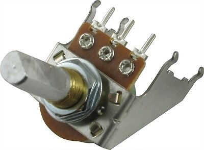 Fender Potentiometer Reverse Audio 30C250K D Shaft Snap-In 16mm with bracket