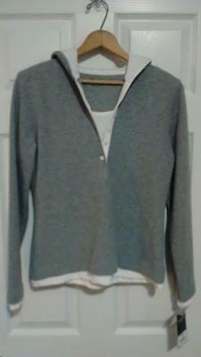 Women's Gray Sonoma Hooded Pullover Sweatshirt/Hoodie -  Size Small