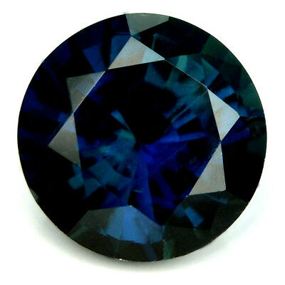 Certified 5.94mm Round Natural Sapphire 1.08ct Unheated Blue VS From Madagascar