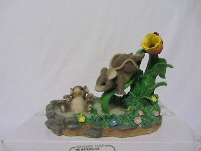 "Charming Tales ""the Waterslide"" Mouse Mice Fitz & Floyd Figurine Mib"