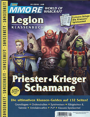 PC GAMES MMORE World of Warcraft Legion Klassenbuch Priester, Krieger- neuwertig