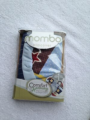 NWT Comfort and Harmony bright starts mombo slipcover double sided blue all star