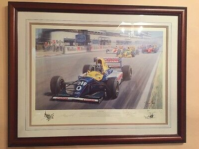 THE PERFECT START signed by Damon Hill F1 print by Tony Smith