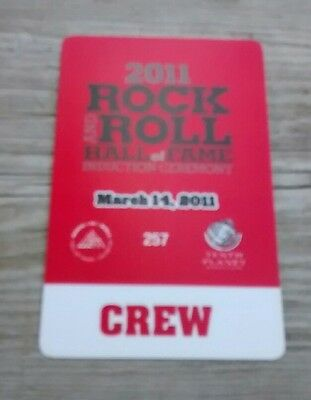 2011 Rock & Roll Hall Of Fame  Backstage Pass Alice Cooper Neil Diamond