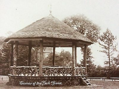 Vintage Rppc The Bandstand Victoria Park Frome Somerset Seating & Wooden Fence