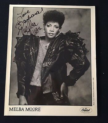 MELBA MOORE Signed Official CAPITOL Record Publicity 8X10 All Dogs Heaven Opdyke