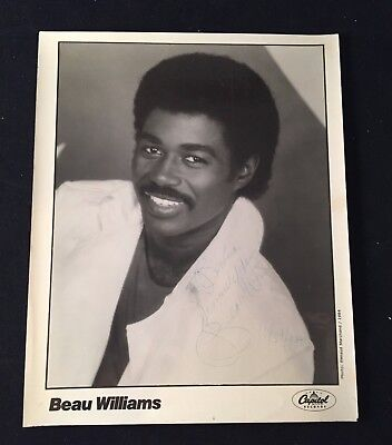 BEAU WILLIAMS Signed OFFICIAL CAPITOL RECORDS Publicity 8X10 PHOTO TBN Opdyke
