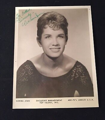Vintage NORMA JEAN Signed OFFICIAL ABC PUBLICITY 8x10 Photograph OPRY Opdyke
