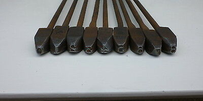 Vintage Full Number set Branding irons Army 1915 Made by Arnold Bros Birmingham