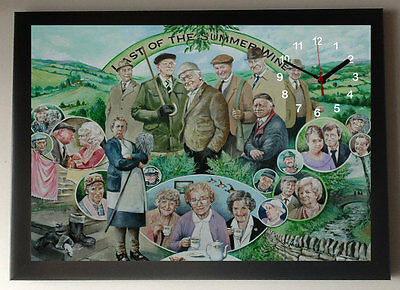 Last of the Summer Wine A4 Picture Clock