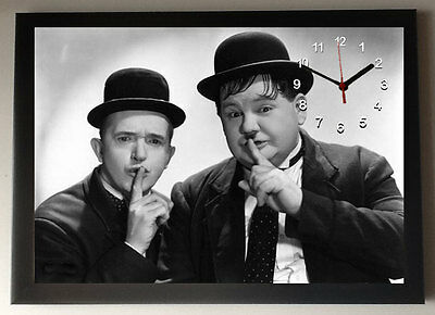 Laurel and Hardy A4 Picture Clock
