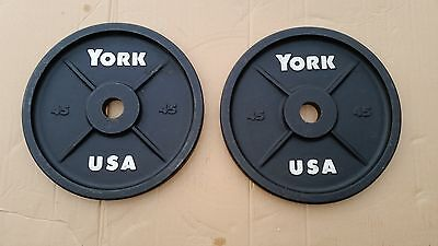 York Barbell / York Barbell 45's / Vintage Olympic Plates / Weights