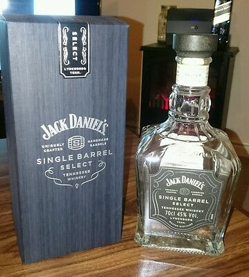 Jack Daniels Single Barrel empty bottle with box decanter