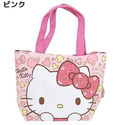 Sanrio Hello Kitty Sailcloth Mini Tote Bag/Pink/Leopard Pattern/Japan Only/New