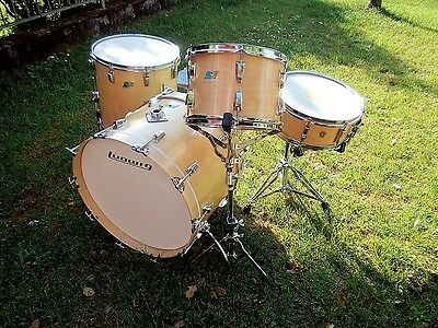 LUDWIG NATURAL MAPLE  VINTAGE 70s DRUM SET BATTERIA