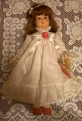 """Lenci felt doll with reddish hair, in box, Italy, 18"""" Beatrice 1995 Mother's Day"""
