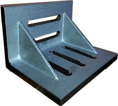 """HHIP 3402-0303 6"""" x 5"""" x 4-1/2"""" Slotted Angle Plate, Webbed"""