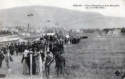 Cpa 12 Millau Fetes D'aviation Et De La Mutualite 6,7 Et 8 Mai 1911 (Belle Anima