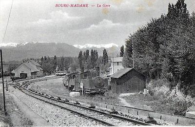 Cpa 66 Bourg Madame La Gare (Train Joli Cliche