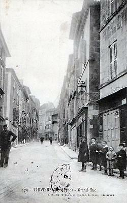 Cpa 24 Thiviers Grand Rue (Belle Animation