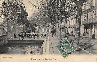 Cpa 09 Pamiers Boulevard Alsace
