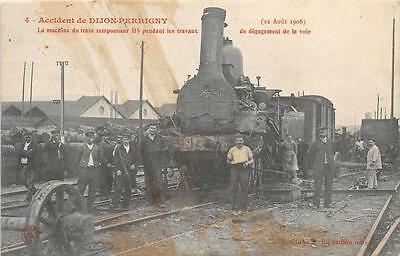 Cpa 21 Accident De Dijon Perrigny La Machine Du Train Tamponneur 115 Pendant Les