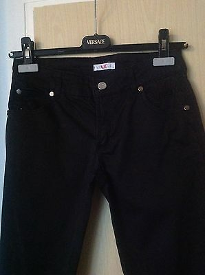 VERSACE JEANS COUTURE Black Trousers Casual Women Size 6 Eu 36