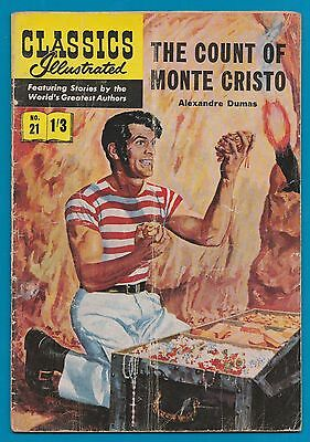 Classics Illustrated Comic # 21 The Count of Monte Christo   #774