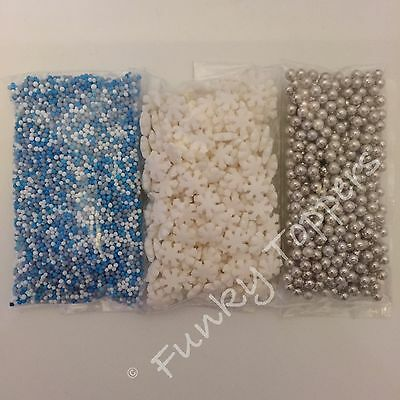 75g MIXED CHRISTMAS Edible Sugar Cupcake Cake Sprinkles Toppers 100s 1000s