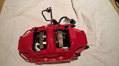 SET 4 PORSCHE GT3 BREMBO BRAKE CALIPERS BIG REDs CARBON SET UP inc PADS SENSORS