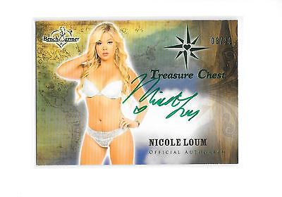2015 Benchwarmer Treasure Chest Nicole Loum Green Foil Auto Autograph 8/10