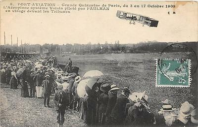 CPA AVIATION PORT AVIATION Gde QUINZAINE DE PARIS 1909 L´AEROPLANE SYSTEME VOISI