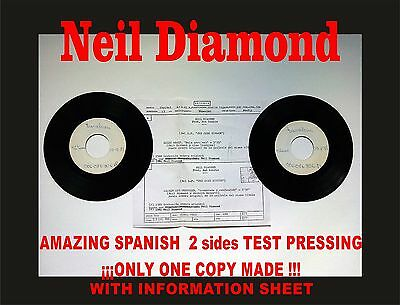 Neil Diamond Amazed and confused Amazing Spanish Test Pressing. Only 1 copy made