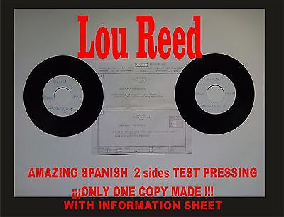 Lou Reed I want you Amazing Spanish Test Pressing. Only 1 copy made!